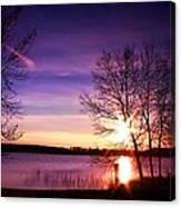 Sunday Lake Canvas Print