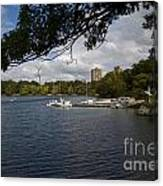 Jamaica Pond Sailing Canvas Print
