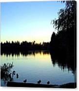 Sundown At Lost Lagoon Canvas Print