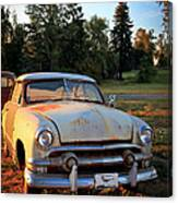 Sundown Chevy Canvas Print