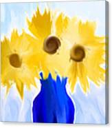 Sunflower Fantasy Still Life Canvas Print