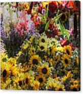Sunflowers And Glads Canvas Print