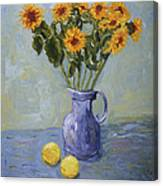 Sunflowers And Lemons Canvas Print