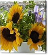 Sunflowers Four Canvas Print