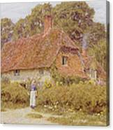 Sunflowers By Helen Allingham Canvas Print