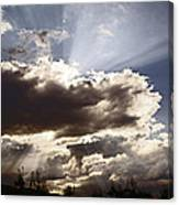 Sunlight And Stormy Skies Canvas Print
