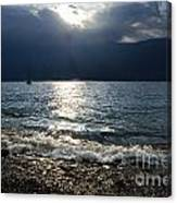 Sunlight And Waves Canvas Print