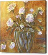 Sunny Carnations In A Vase Canvas Print