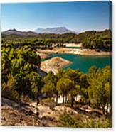 Sunny Day In El Chorro. Spain Canvas Print