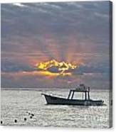 Sunrise - Puerto Morelos Canvas Print