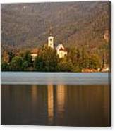 Sunrise Across Lake Bled Canvas Print