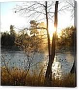 Sunrise Across The Mississippi Canvas Print
