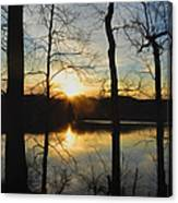 Sunrise Along The Delaware River Canvas Print