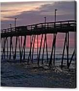 Sunrise At Avalon Pier Canvas Print