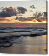 Sunrise At Bamburgh Beach Canvas Print