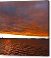 Sunrise At Ile-bizard ...  Canvas Print