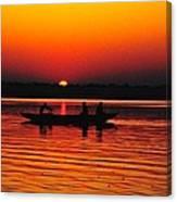 Sunrise At Indian Sea  Canvas Print