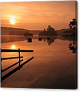 Sunrise At Knapps Loch Canvas Print