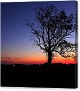 Sunrise At Little Elk Creek Road Canvas Print