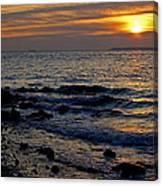 Sunrise At Mt Loretto Beach Canvas Print
