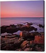 Sunrise At Otter Point Canvas Print