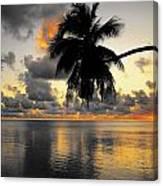 Sunrise At Sea 3 Canvas Print