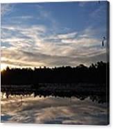 Sunrise At The Pond Canvas Print