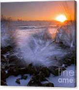 Sunrise Explosion Canvas Print