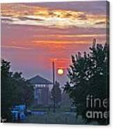 Sunrise From Backyard Canvas Print