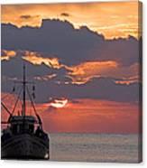 Sunrise In Crete Canvas Print
