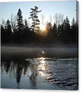 Sunrise On Ice Canvas Print