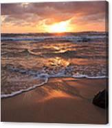 Sunrise On Kauai Coast Canvas Print