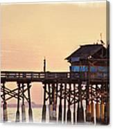 Sunrise On Rickety Pier Canvas Print