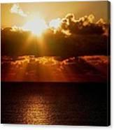 Sunrise On Sea 1 Canvas Print