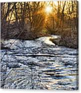 Sunrise On The St Vrain River Canvas Print