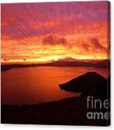 Sunrise Over Crater Lake Canvas Print