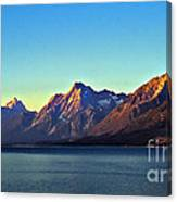 Sunrise Over Jackson Lake Canvas Print