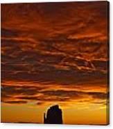 Sunrise Over Monument Valley, Arizona Canvas Print