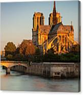 Sunrise Over Notre Dame Canvas Print