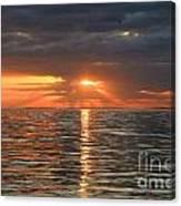 Sunrise Over Ripples Canvas Print