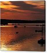 Sunrise Over Southwest Harbor Canvas Print