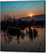 Sunrise Over The Beaver Pond Canvas Print