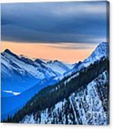 Sunrise Over The Rockies Canvas Print