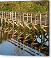 Sunrise Pier Reflection Canvas Print