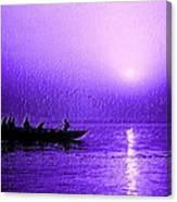 Sunrise Rowing Canvas Print