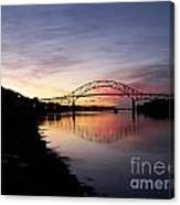 Sunrise Sagamore Bridge Canvas Print