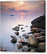 Sunrise To Théoule Sur Mer Canvas Print