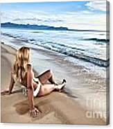 Sunrise Woman Canvas Print