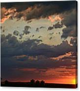 Sunset After The Thunderstorm Canvas Print