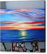 Sunset And Stone Canvas Print